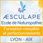 Formation naturopathie Lyon, Aix pour devenir naturopathe - Ecole Aesculape agréée Féna | Aesculape.eu - Æsculpae est une école libre de naturopathie agréée la FÉNA présente sur Lyon (69) et Aix-en-Provence (13). Elle propose des initiations à la naturopathie, un cycle complet de praticien naturopathe selon un rythme de formation compatible avec la vie professionnelle et familiale, ainsi que des modules de perfectionnement pour les naturopathes en périnatalité, massage tempéramental intégré à la pratique naturopathique, sophro-relaxation, fleurs de Bach, iridologie, réflexologie plantaire…
