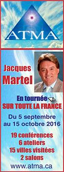 Jacques Martel en tournée sur toute la France - Septembre Octobre 2016 - Editions Atma
