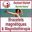 Bracelet magnetique antidouleur naturel, bienfaits d'aimants puissants | Axstore-market.fr