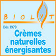 Crèmes naturelles énergisantes - Biolyt, fort de 40 années de succès en énergie vitale et bien-être propose sa gamme de crèmes énergisantes non grasses produites en Suisse, idéales pour tous les types de peaux: soins des cicatrices et du visage, jambes lourdes, impuretés de la peau