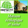Chapeau vert maison écologique et saine Habitat bon pour la santé