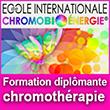 Formation certifiante et diplômante en chromothérapie et chromobioénergie