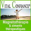 Magnétothérapie Vital confiance C'est l'utilisation de champs magnétiques dans le but de traiter de nombreux problèmes, soit une thérapie par les aimants ou le magnétisme.