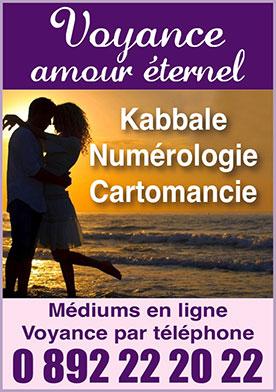 Voyance Amour Eternel Voyance par téléphone : amour, travail, finance 0892 22 20 22. Voyance Pure : la solution à vos interrogations.