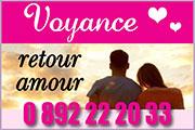 Voyance par Téléphone - Voyance Retour Amour 0892 22 20 33