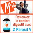 Z-ParasitV (300 ml)  Excellent à tous les changements de saison  Primordial si changement de régime alimentaire ou cure d'amincissement  Pour tous Mint Elabs