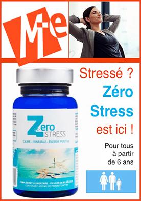Zero Stress (60 gélules)  Apaise ou Donne de l'énergie en fonction des besoins  Aide a faire face aux situations stressantes  Traite les effets toxiques du stress