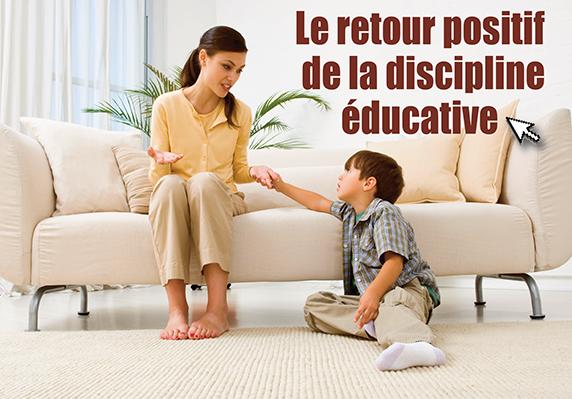 Le retour positif de la discipline éducative